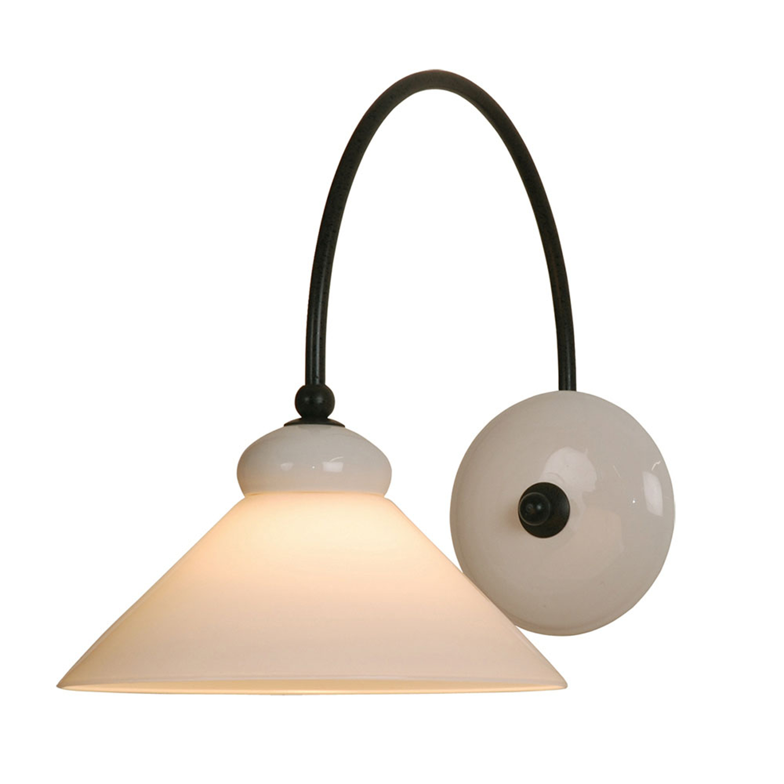 Menzel Provence La Maison wandlamp, kap wit