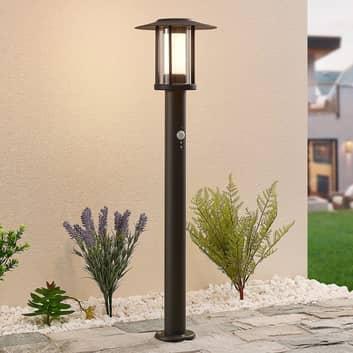 Gregory LED-gadelampe, mørkegrå, med sensor