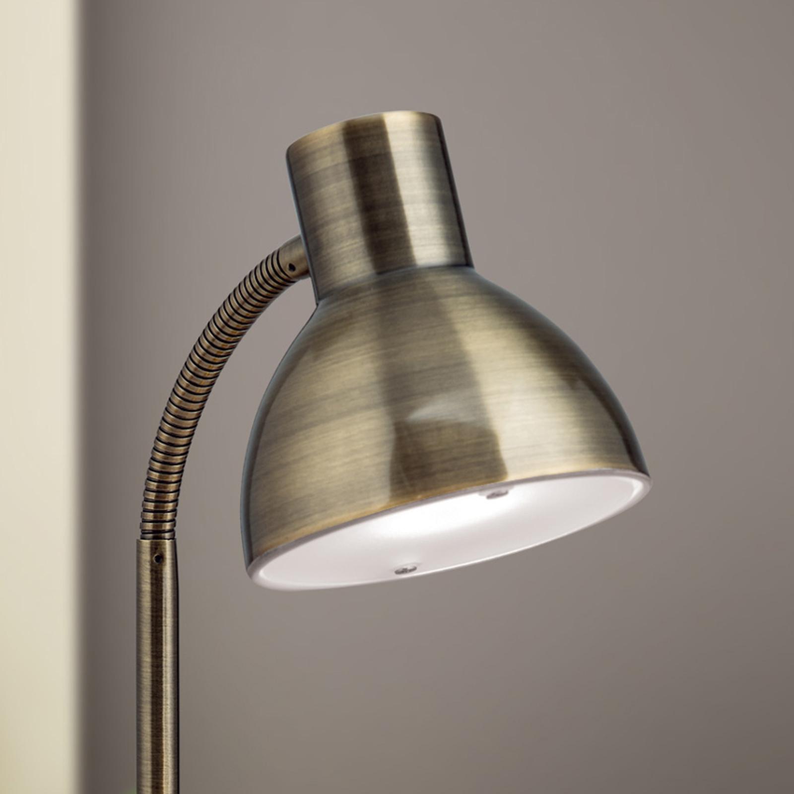 Lampada da scrivania LED Isra ottone antico
