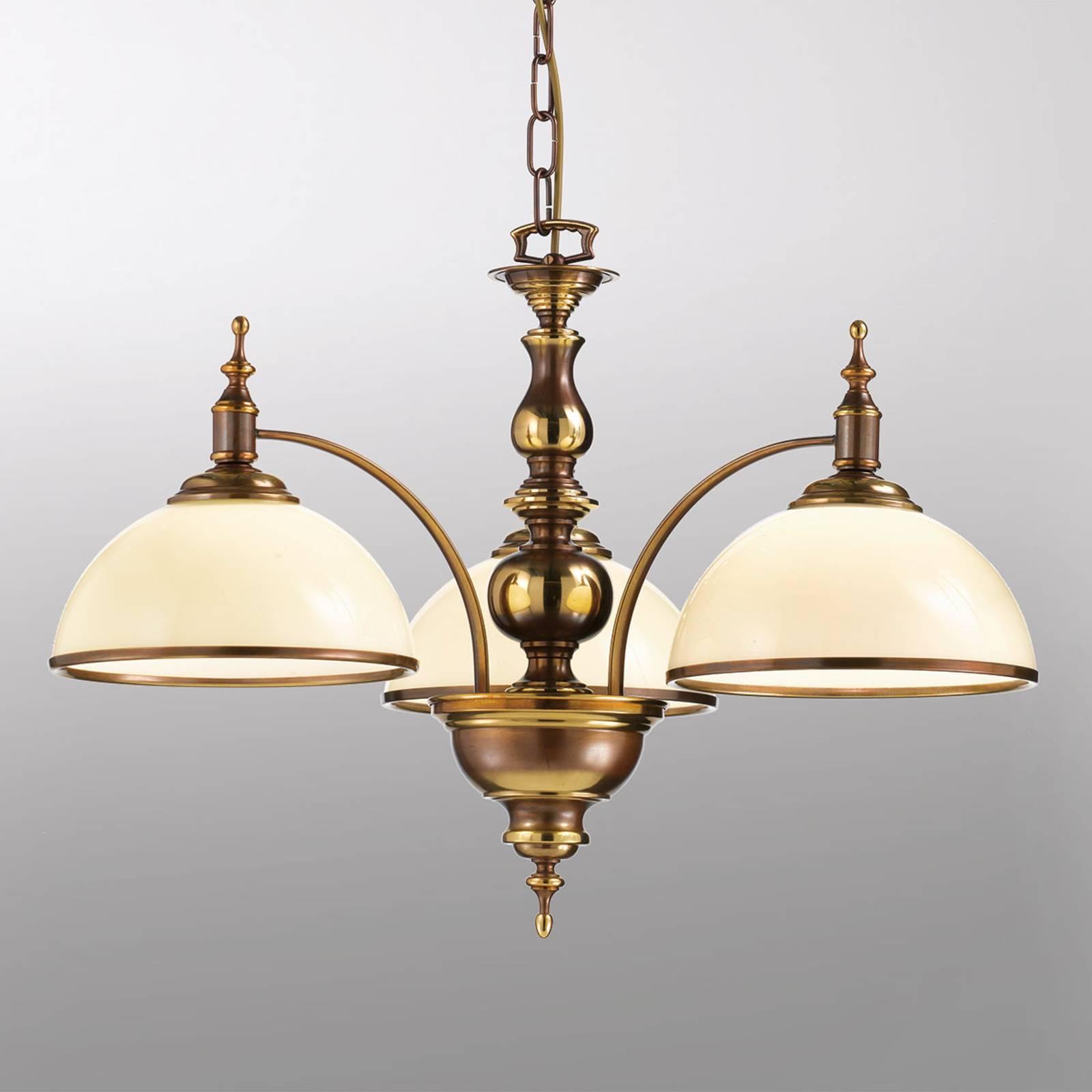 Suspension Corola à aspect antique 3 lampes