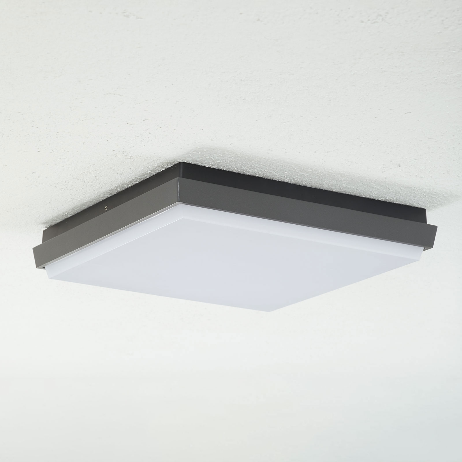 Lucande Amra plafonnier LED angulaire 30cm