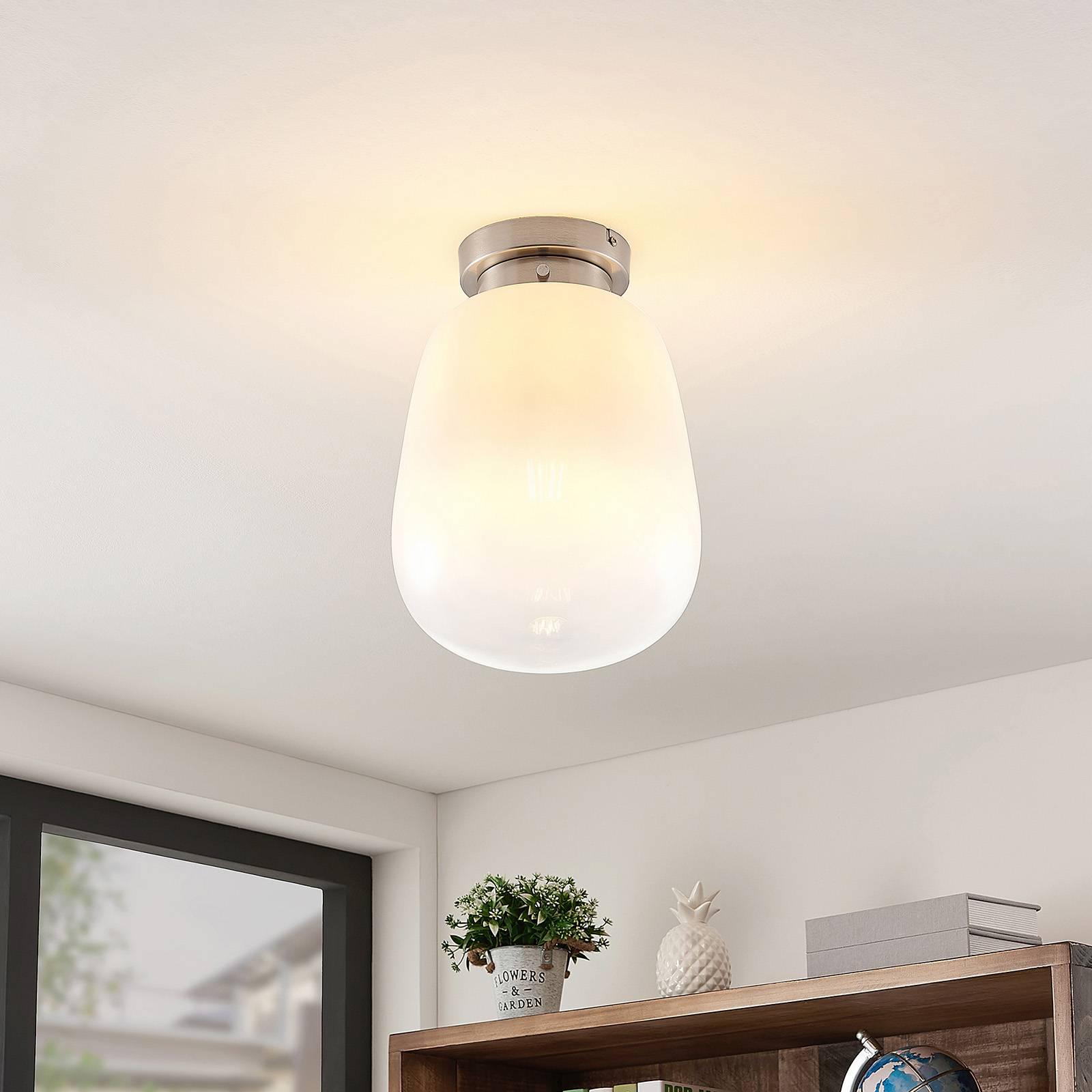 Lucande Tessi szklana lampa sufitowa