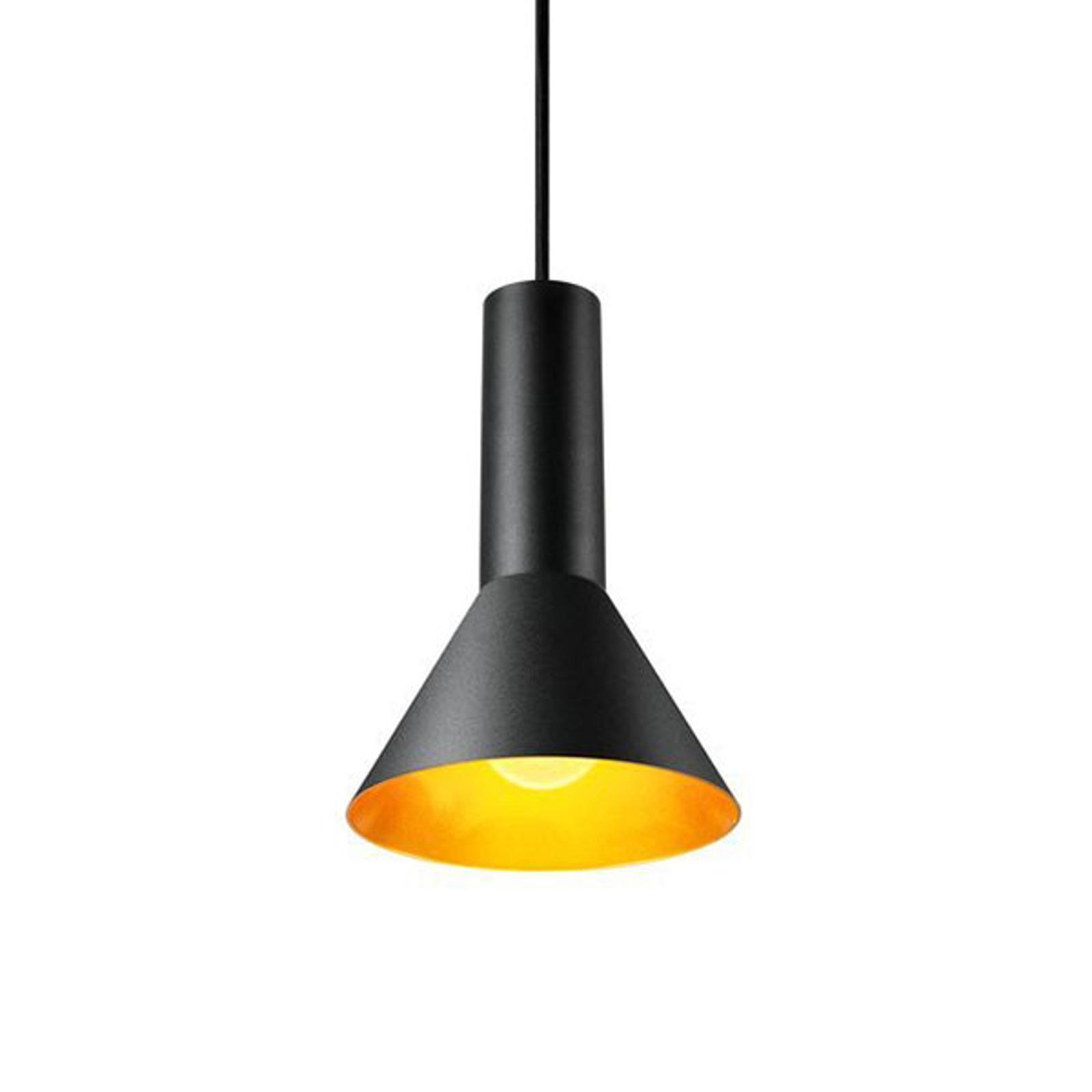 SLV Phelia suspension noire/dorée, Ø 17,5cm