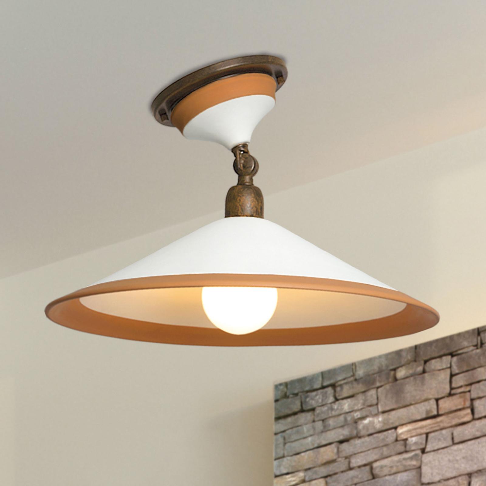 Plafondlamp 4560/PL41, bruin, wit, oker