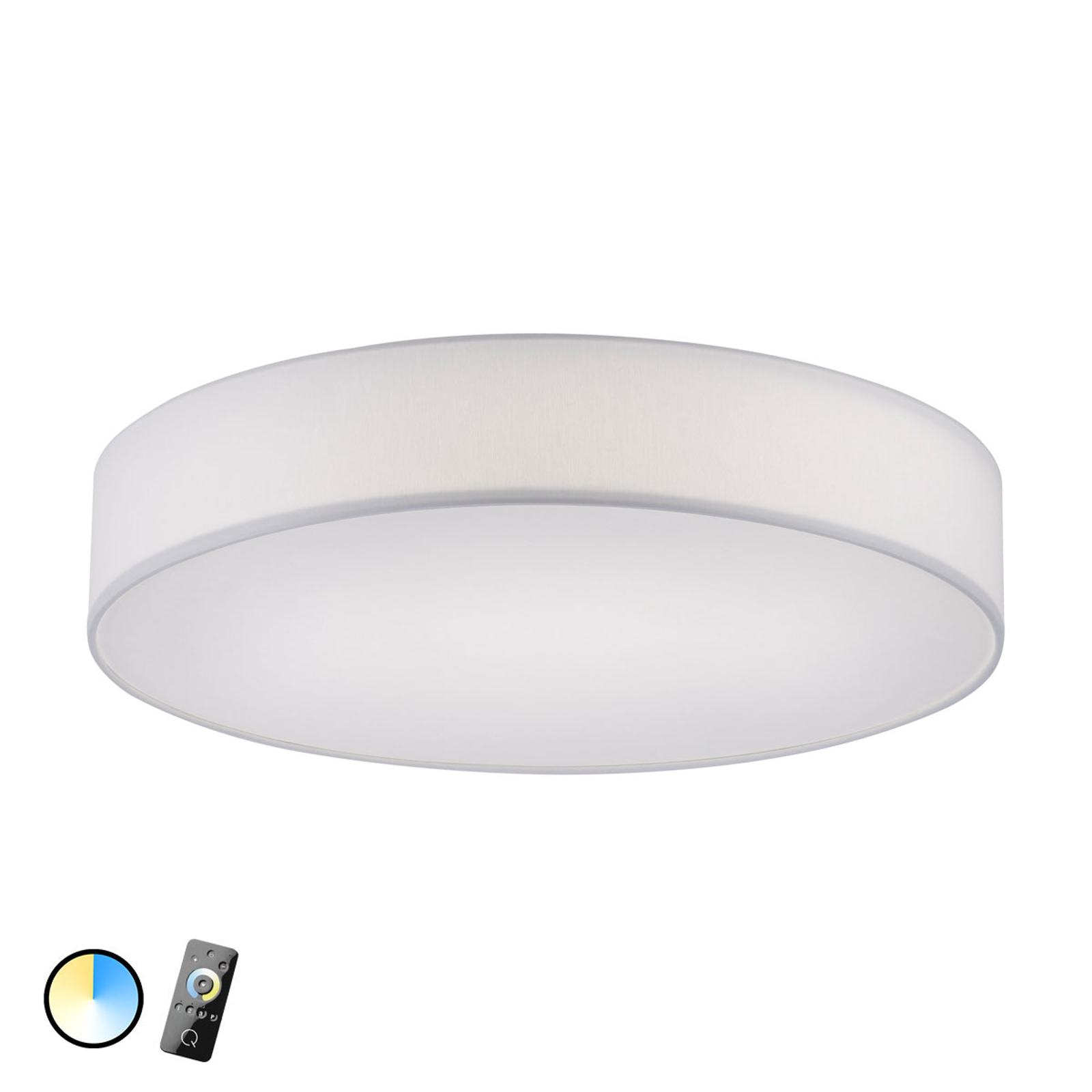 Sterowana tekstylna lampa sufitowa Q-Kiara – biała