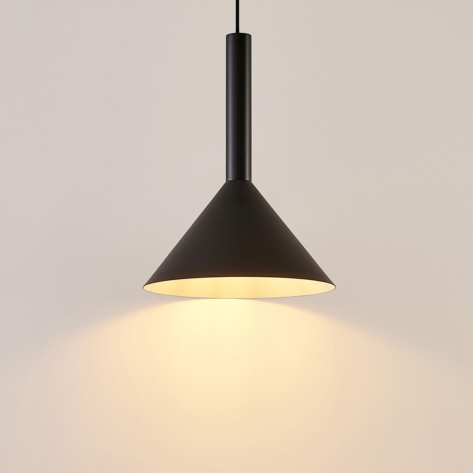 Arcchio Tadej hanglamp 1-lamp 30 cm zwart en wit