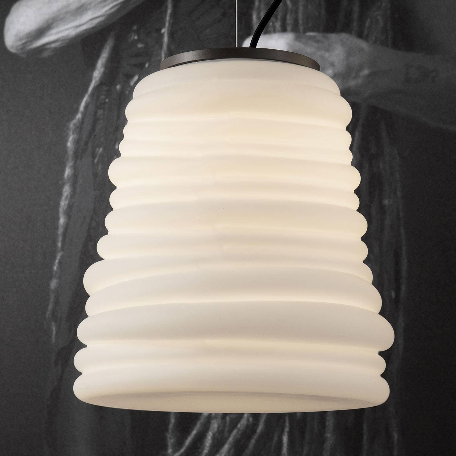 Karman Bibendum lampa wisząca LED, Ø 30 cm, biała