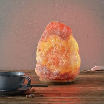 ROCK: lámpara de sal cristali. 4-6 kg altura 23 cm