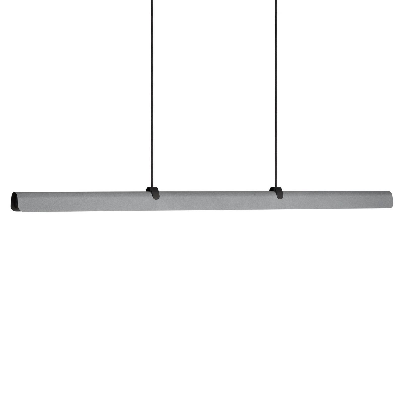 LED-Hängeleuchte Fold, dimmbar, betonfarben