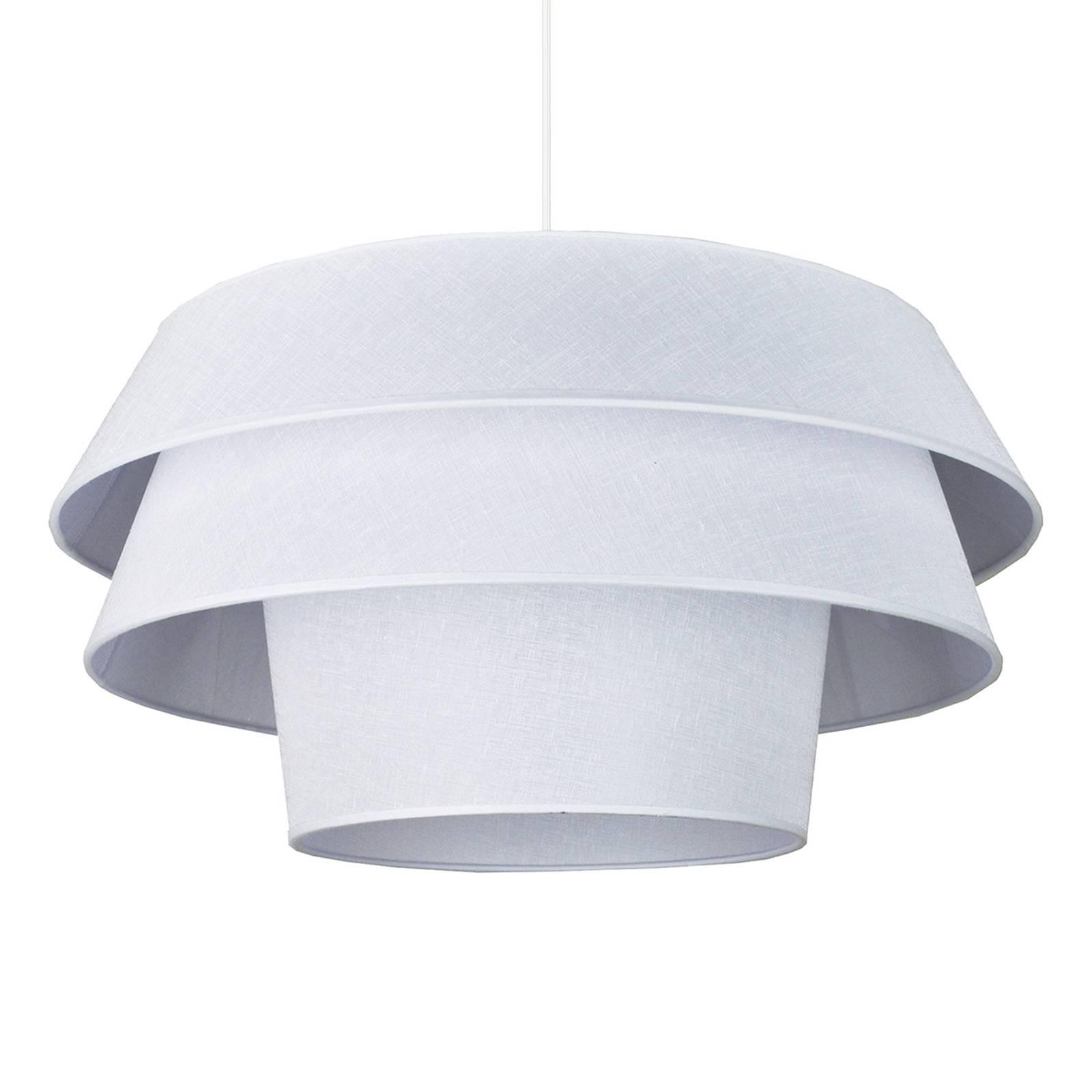 Tekstylna lampa wisząca Lotos, biała