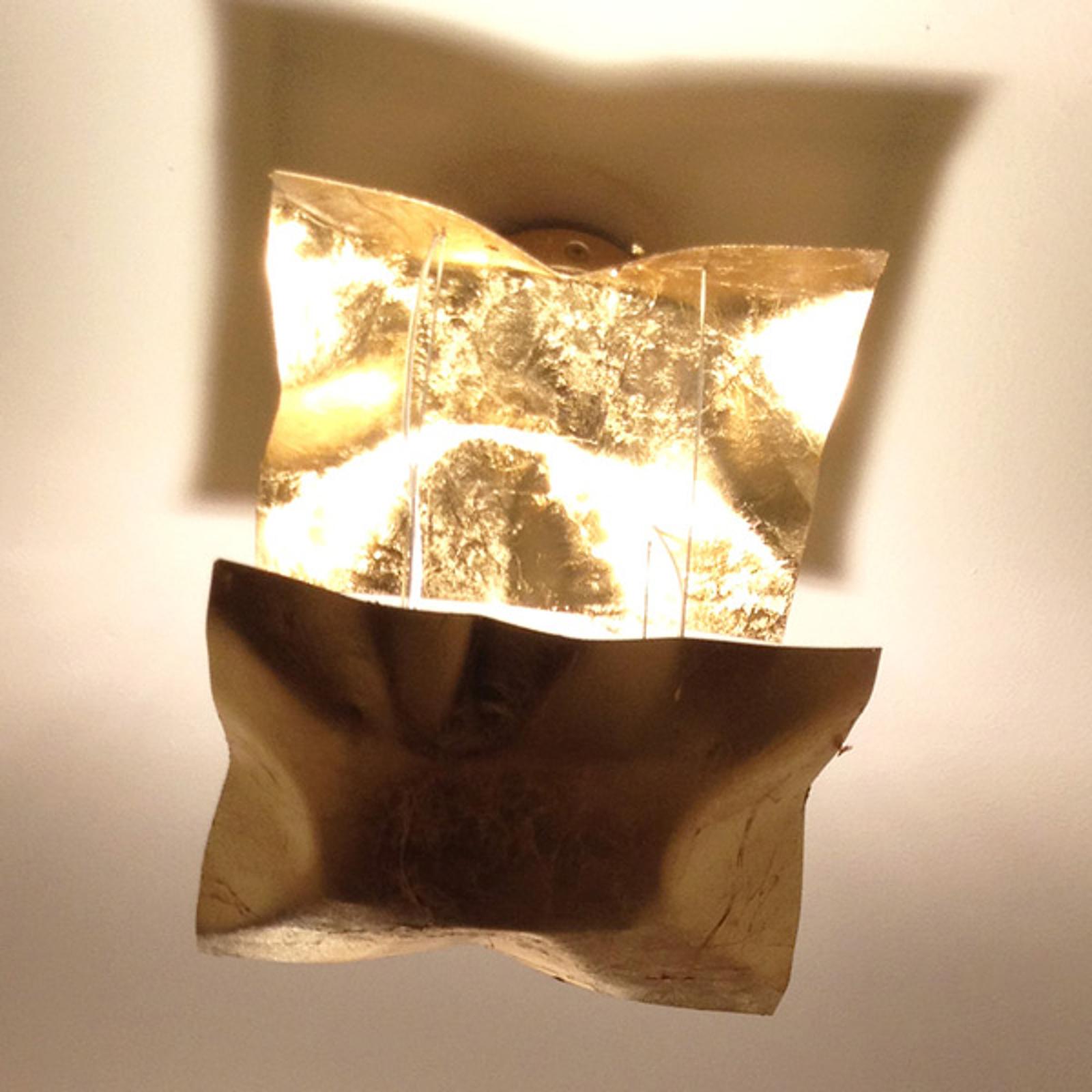 Suspension Piccola Crash dorée à la feuille