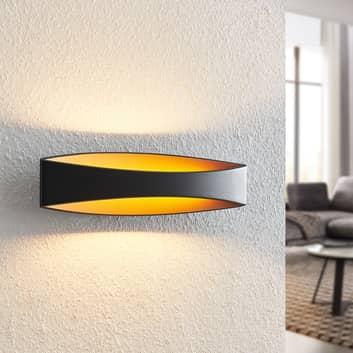 Arcchio Jelle LED-Wandleuchte, 43,5 cm, schwarz