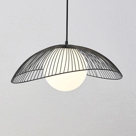 Lindby Fabronia lampa wisząca kratka, szklana kula