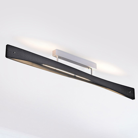 Lucande Lian LED stropní světlo, černé, hliník