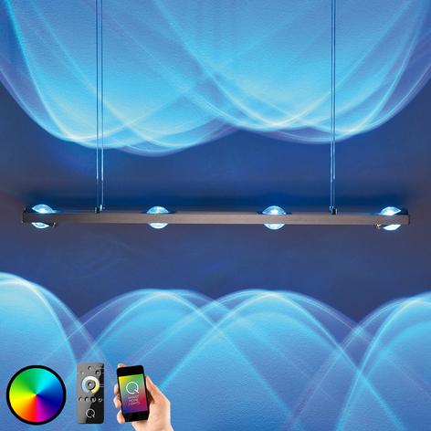 Elegant LED-pendellampe Fisheye, fjernbetjening