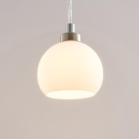 LED-pendellampe Kimi til 1-fase skinne, hvit