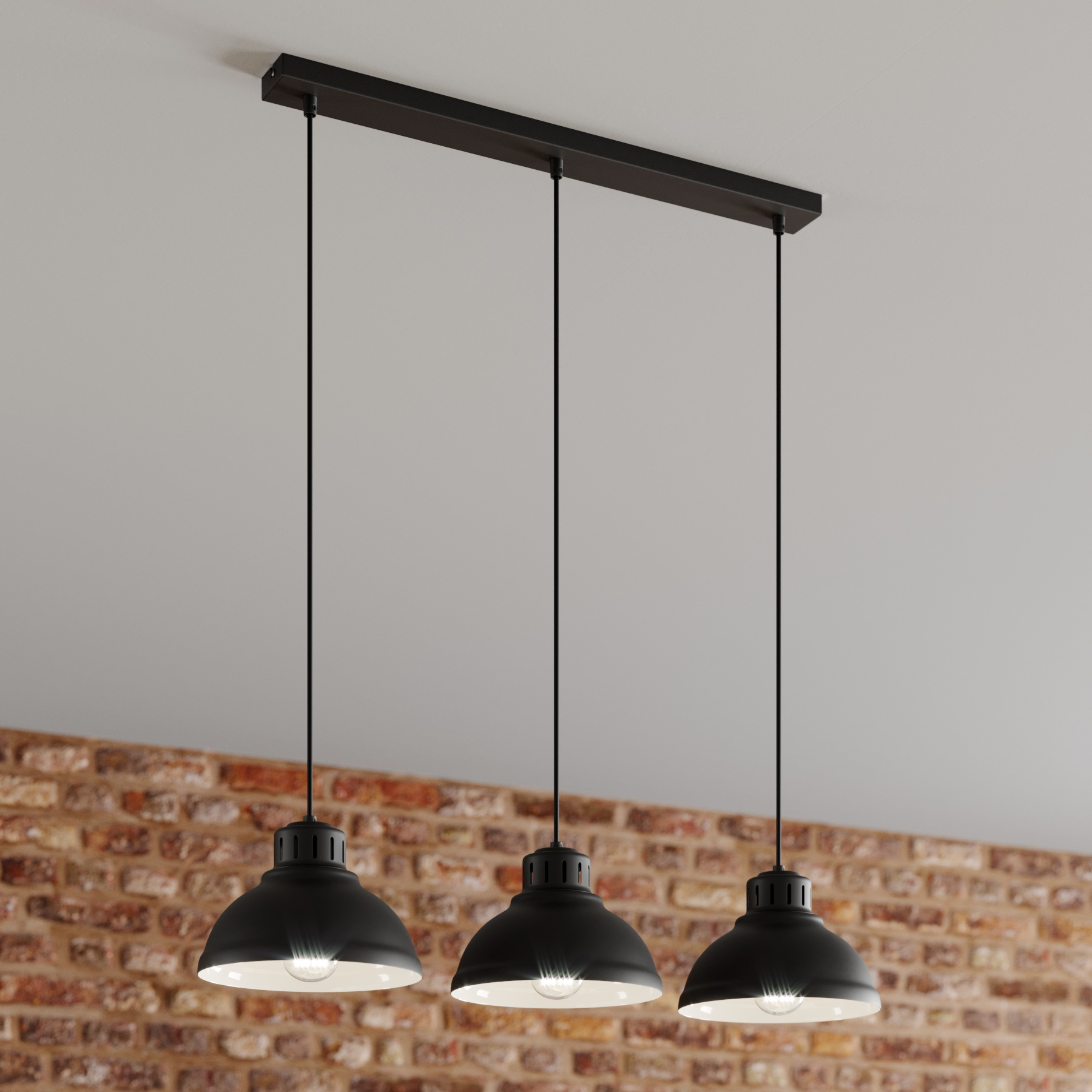 Hanglamp Sven, 3-lamps, zwart