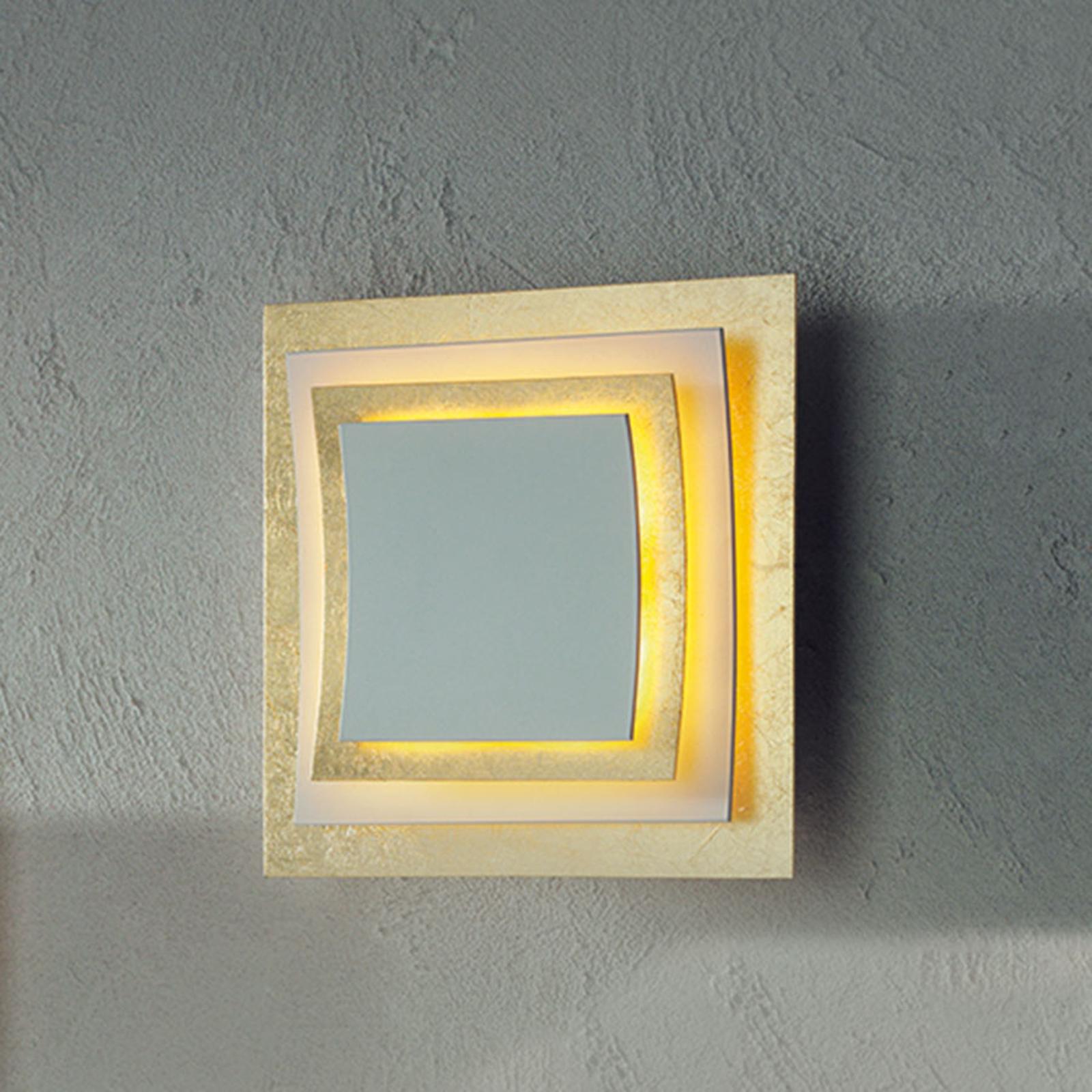 Vägg-/plafondlampa Pages i bladguld, 22 cm