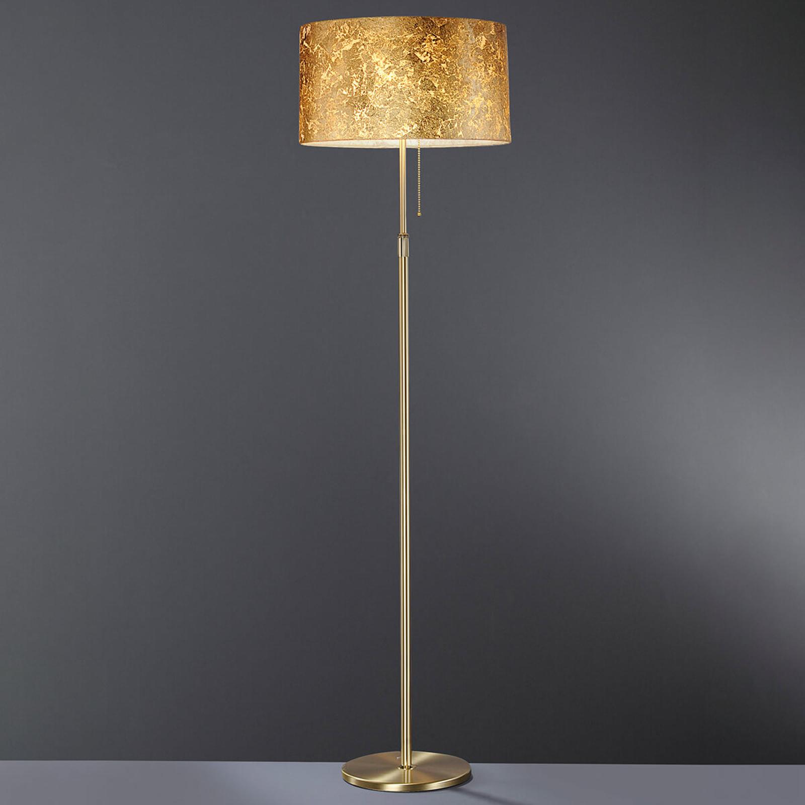 Beau lampadaire Loop recouvert à la feuille d'or