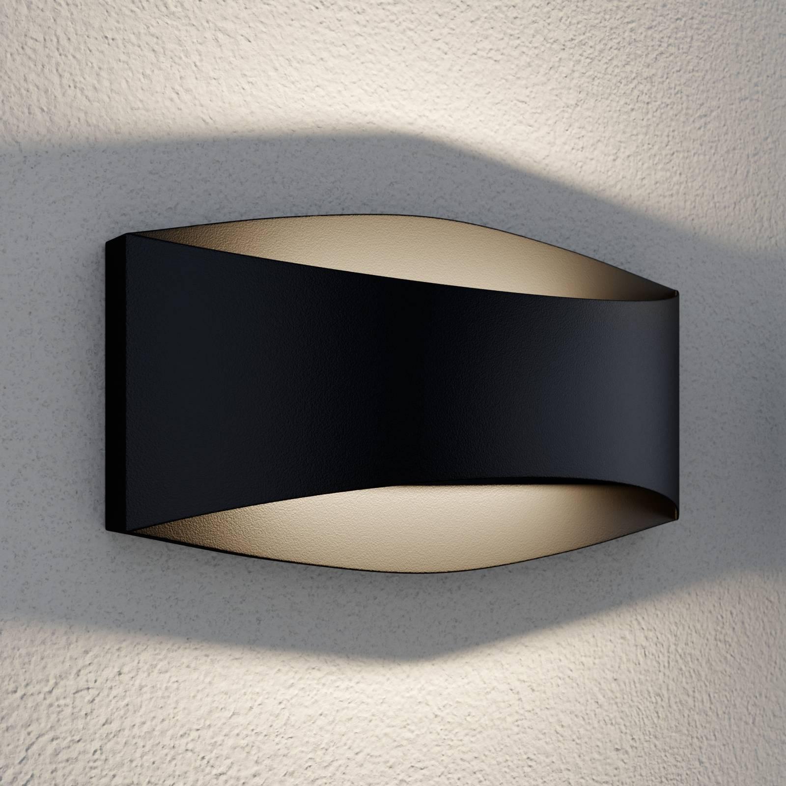 Lindby Evric LED-Außenwandleuchte, Breite 20,3 cm