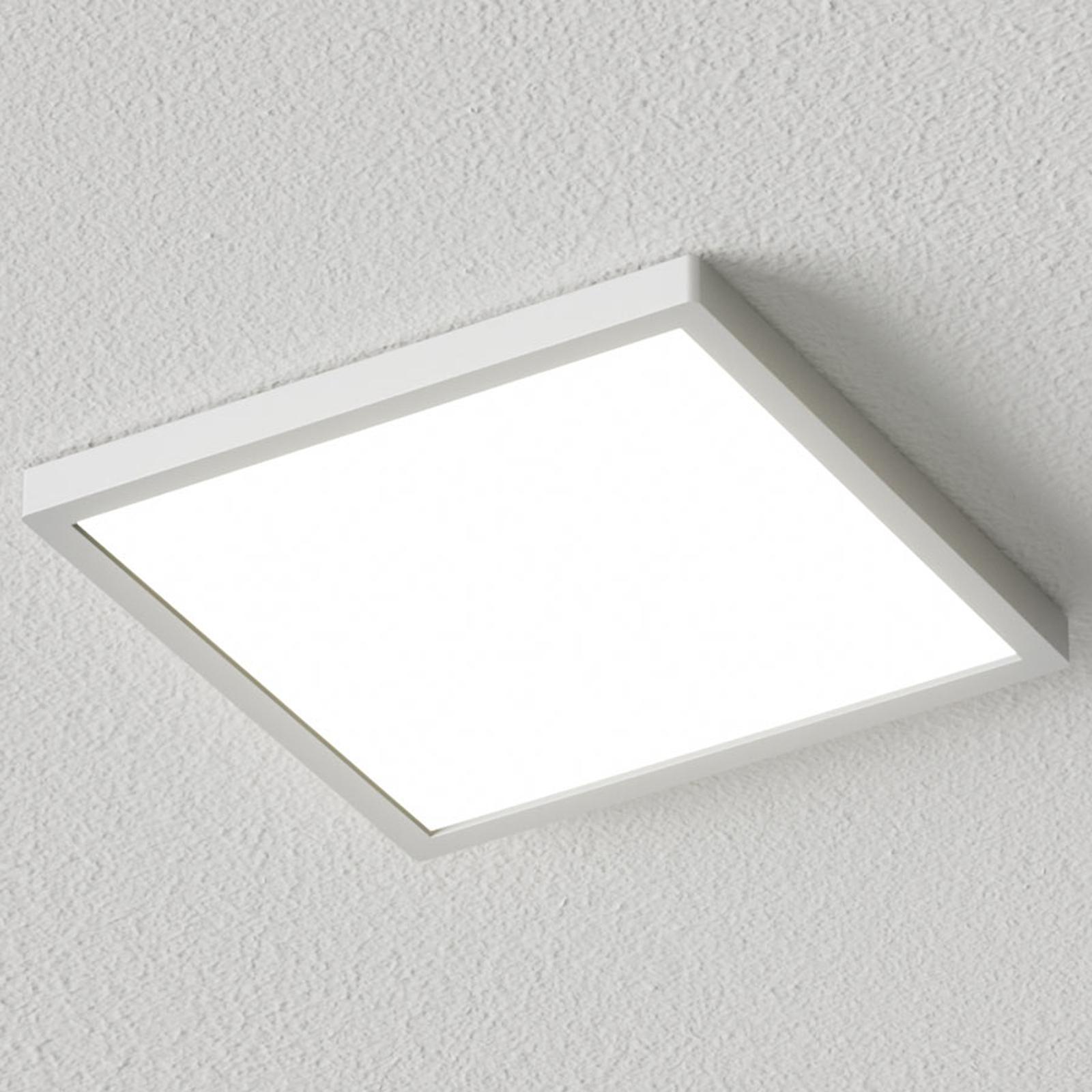 Kanciasta lampa sufitowa LED Solvie, srebrna