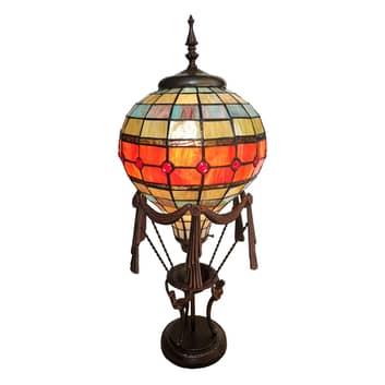 Dekorationslampe 6016, varmluftballon, tiffanydeko