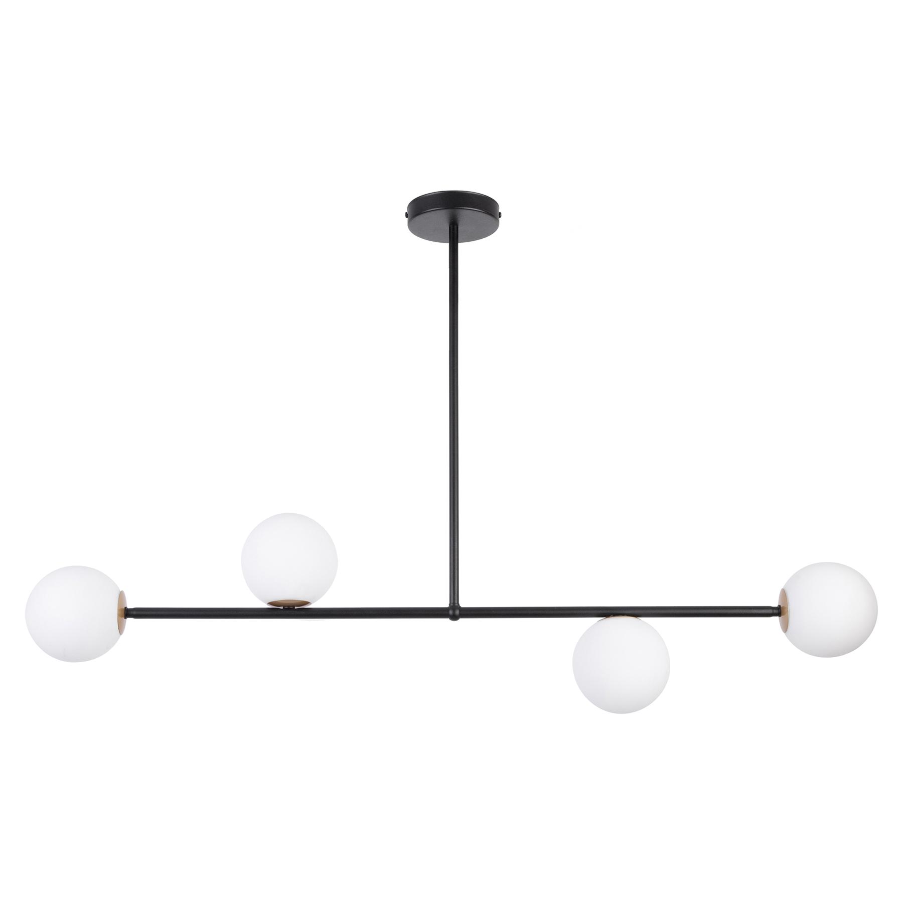 Hanglamp Gama 4, 4-lamps, zwart
