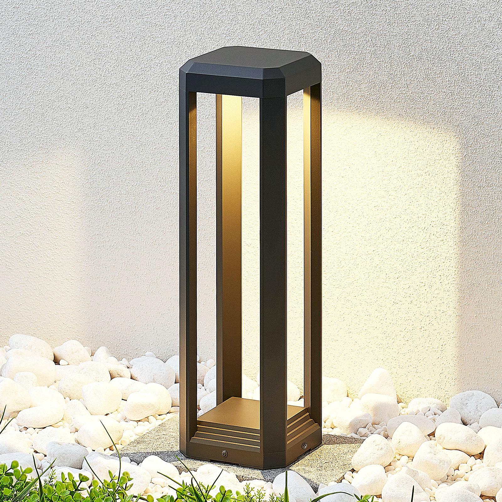 Lampioncino a LED Fery color antracite, 50 cm