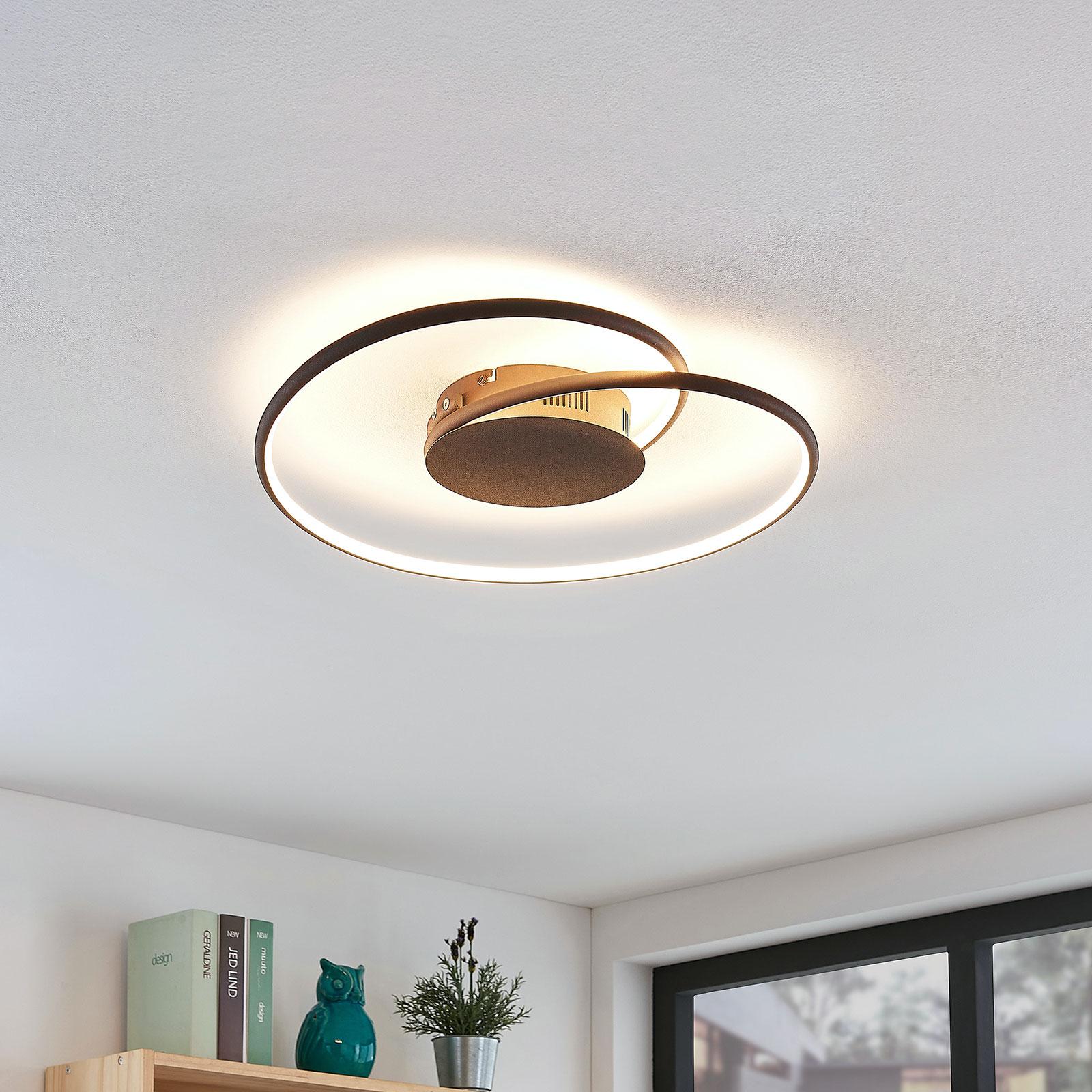Lindby Joline plafonnier LED, rouille, 45cm