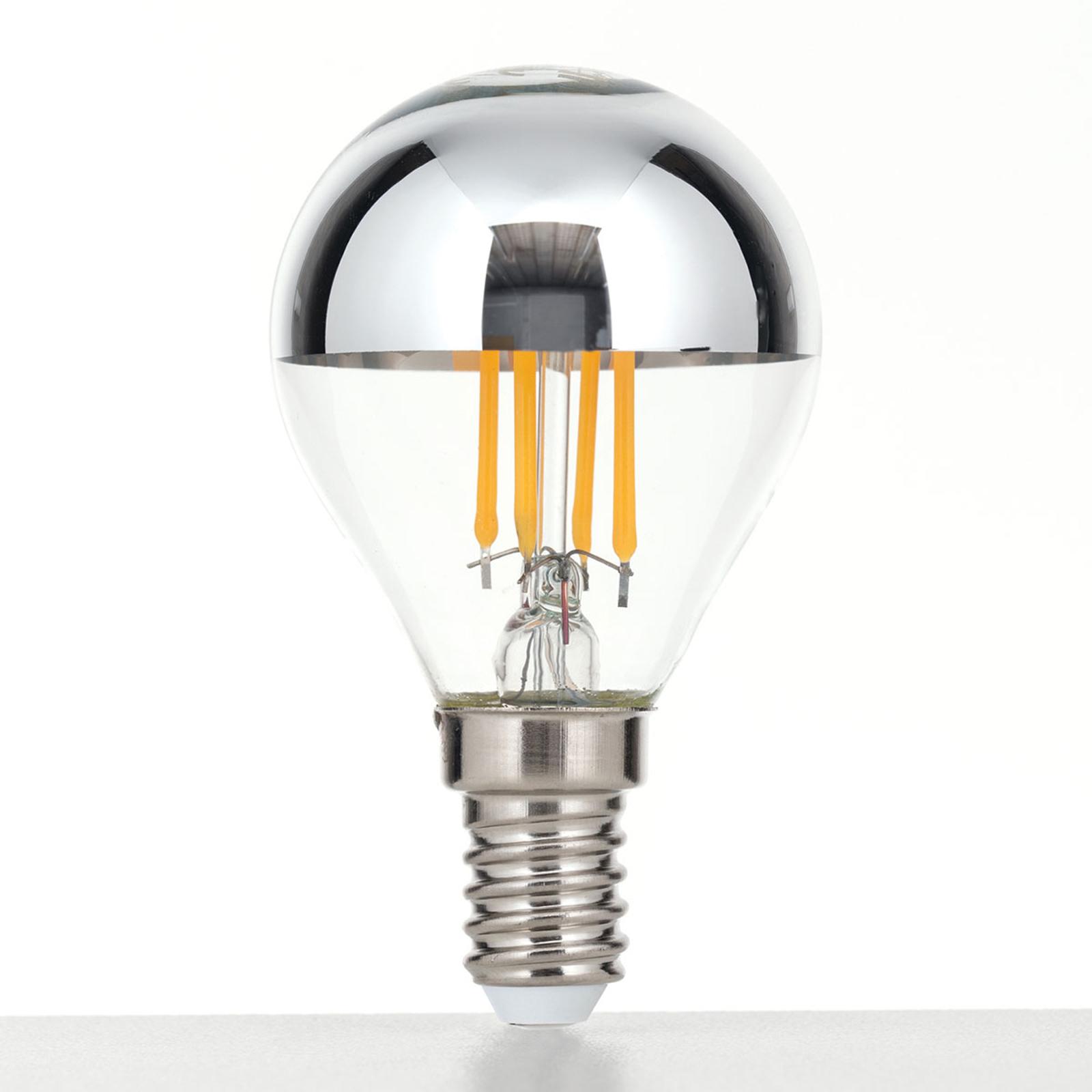 LED-toppforspeilet pære E14 4W, varmhvit, dimbar