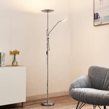 Lindby Heliani LED stojací lampa, 2 žárovka, chrom