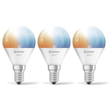 LEDVANCE SMART+ WiFi E14 5 W droppe CCT 3-pack