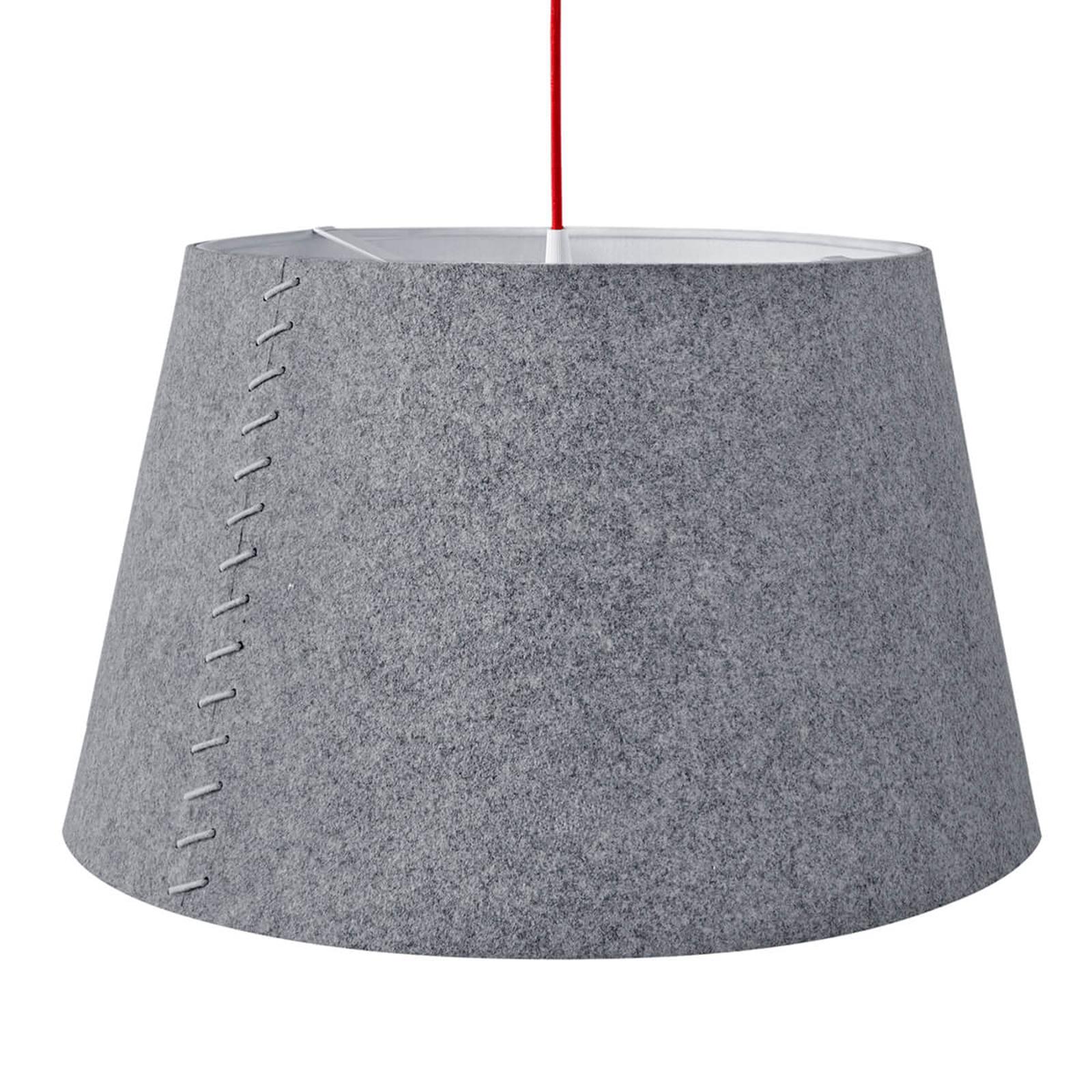 Alice - szara lampa wisząca LED z filcu, 50 cm