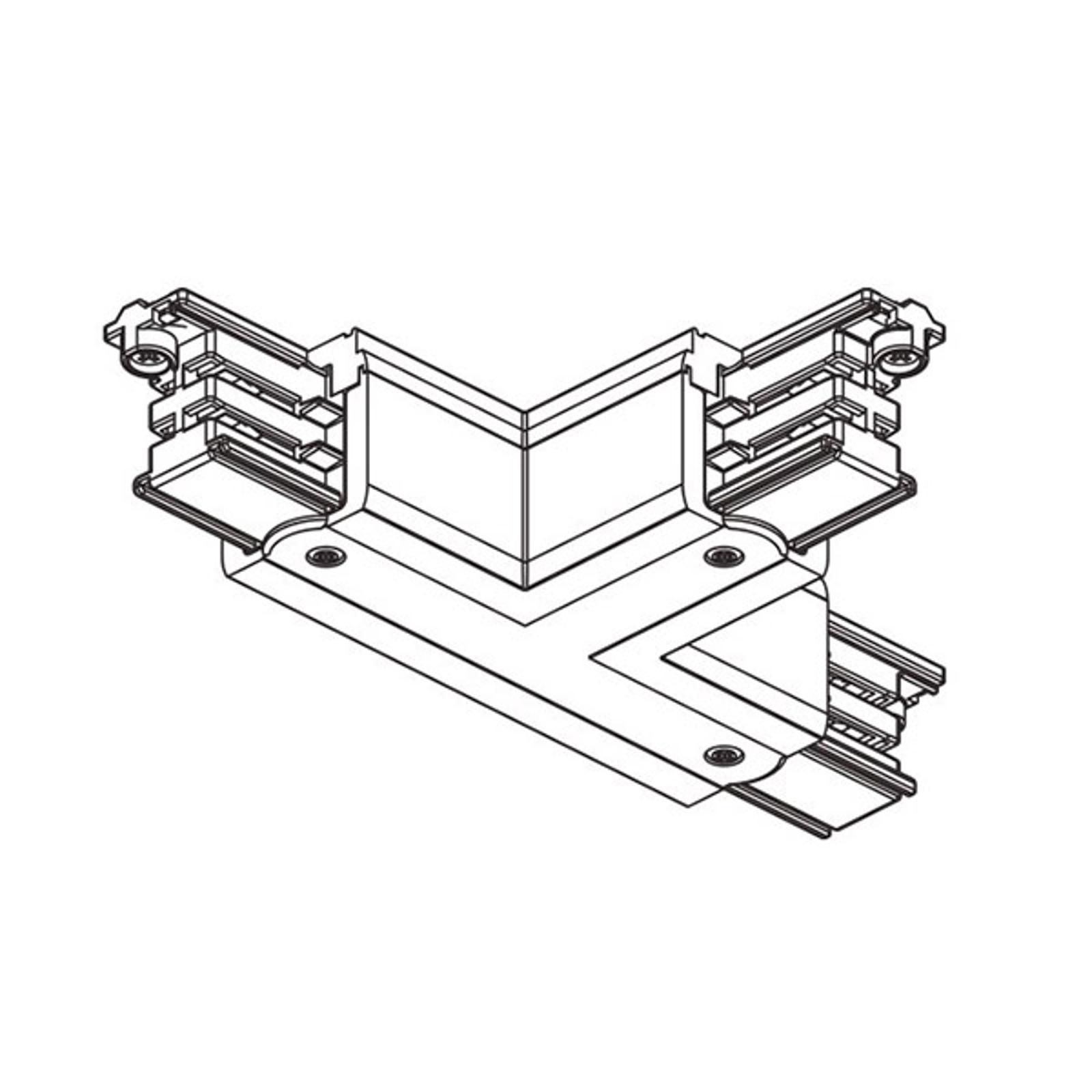 T-Verbinder Noa Schutzleiter außen rechts, weiß
