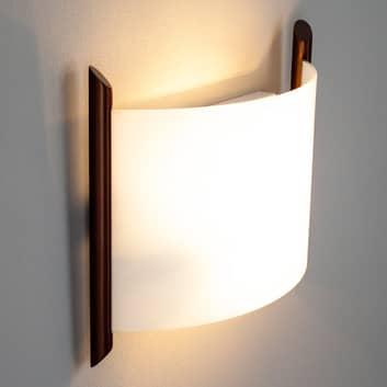 Vägglampa Filippa, 31 cm, brun