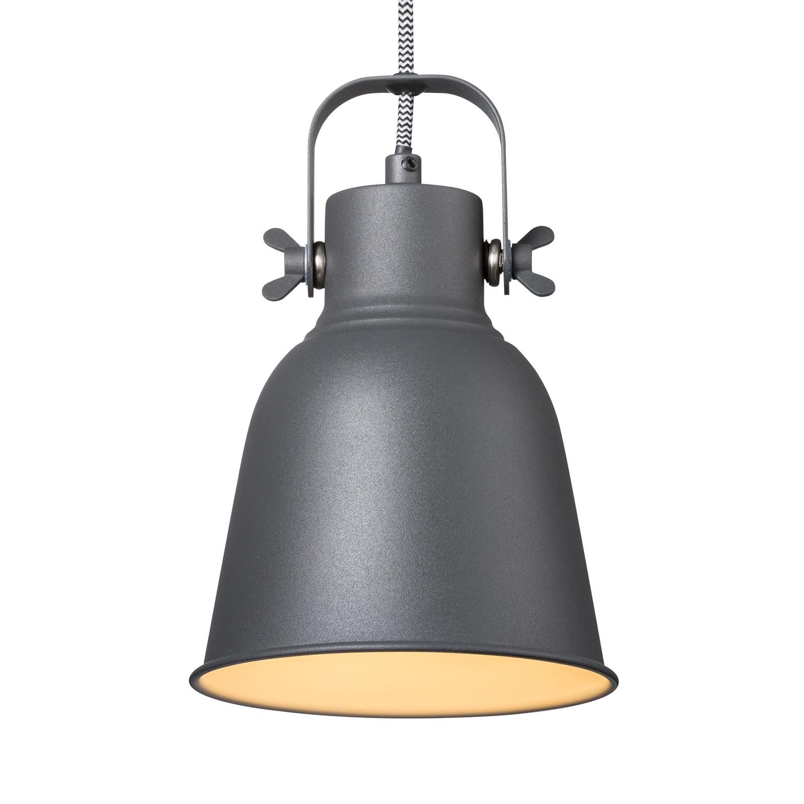 Lampa wisząca Adrian w kolorze czarnym, Ø 16cm