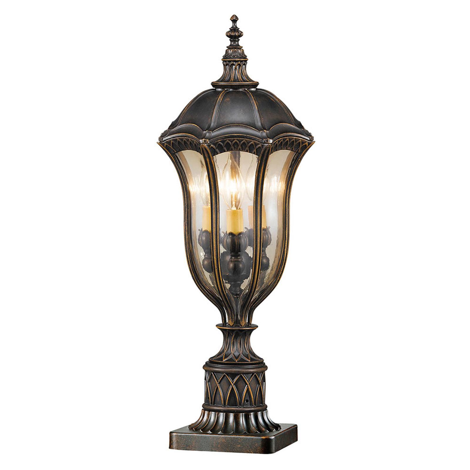 Lampa cokołowa Baton Rouge, staromodna