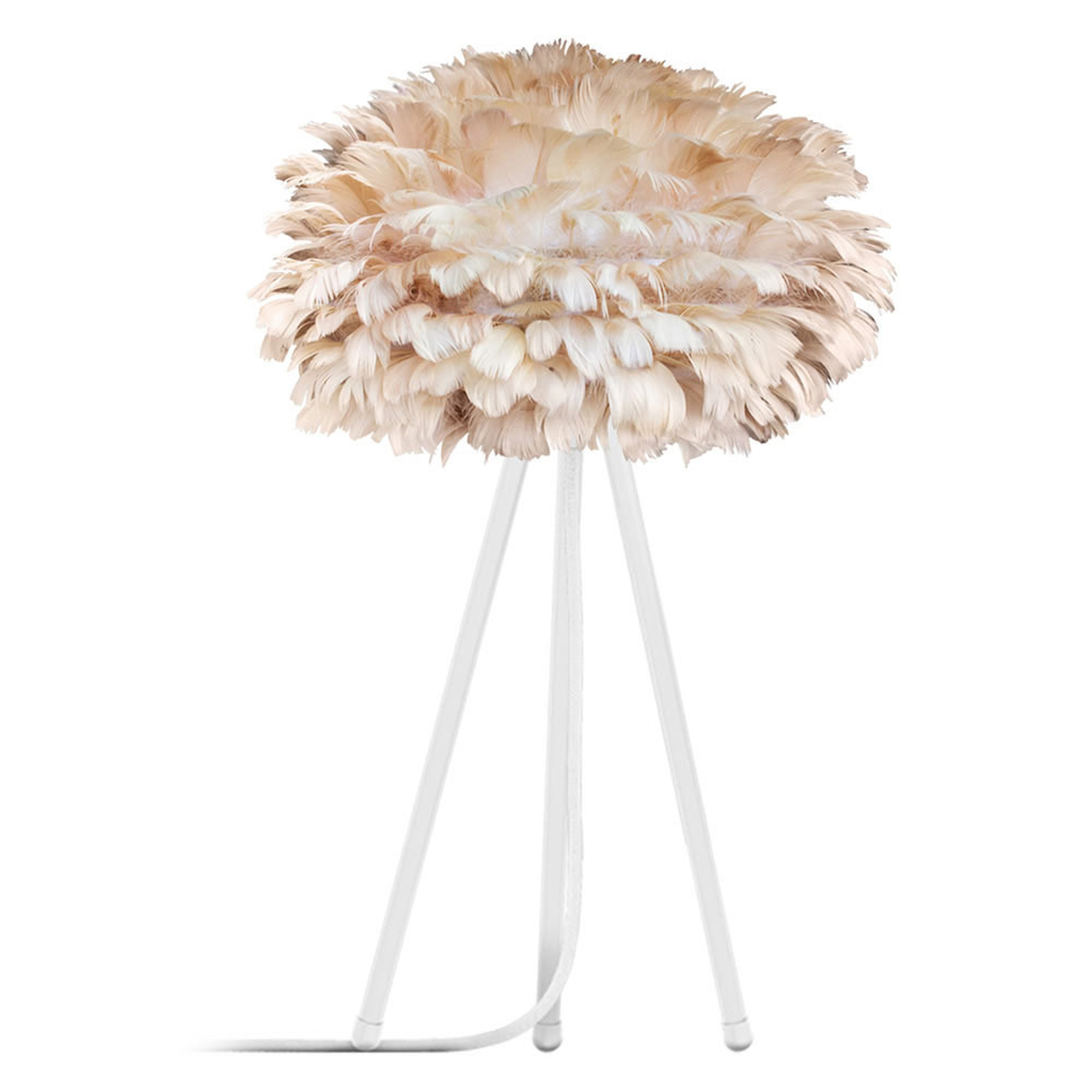 UMAGE Eos mini lampa stołowa pióra brązowa