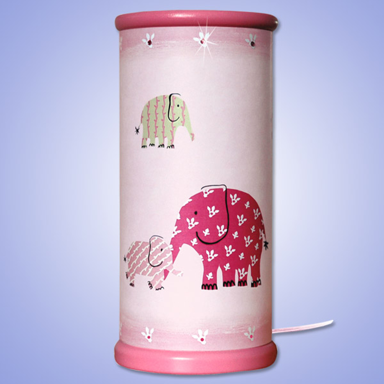 Betoverende LED tafellamp ELEFANT, pink
