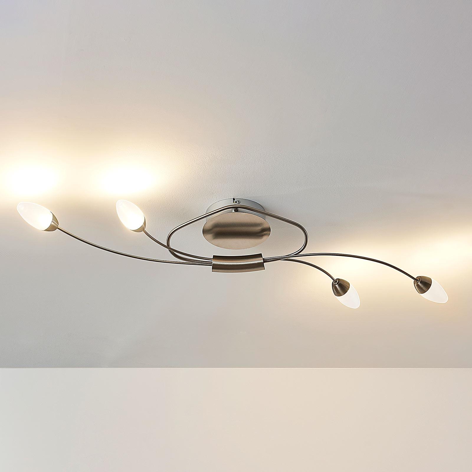 LED-Deckenleuchte Deyan, dimmbar, 4-fl.