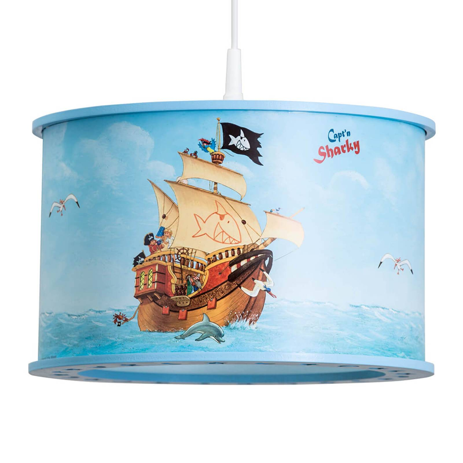 Dziecięca lampa wisząca Capt'n Sharky
