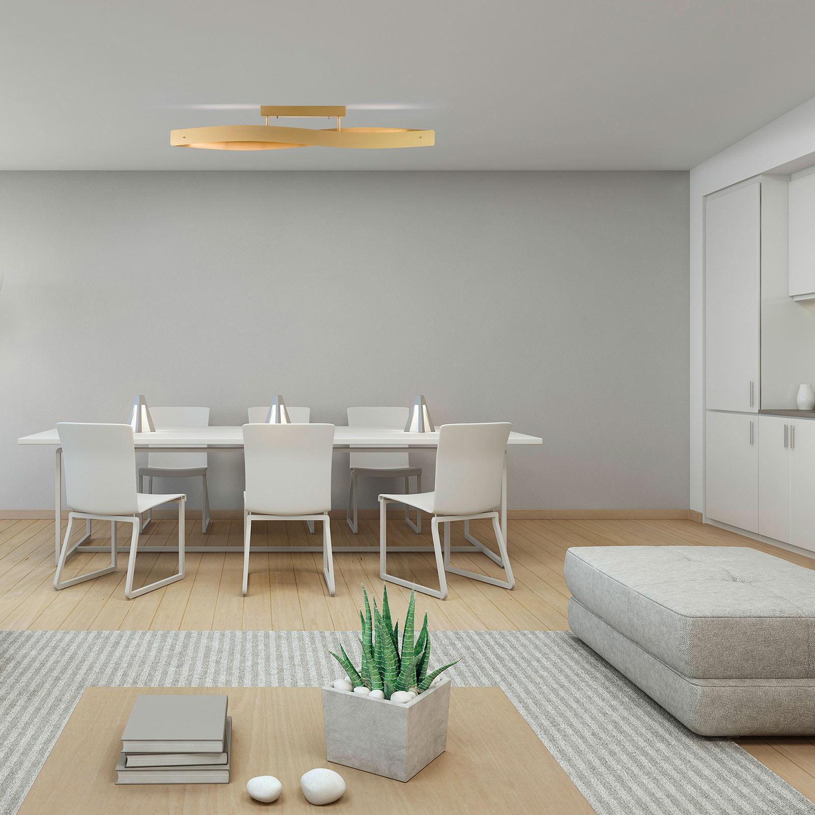 Lucande Lian LED-Deckenlampe, messing matt