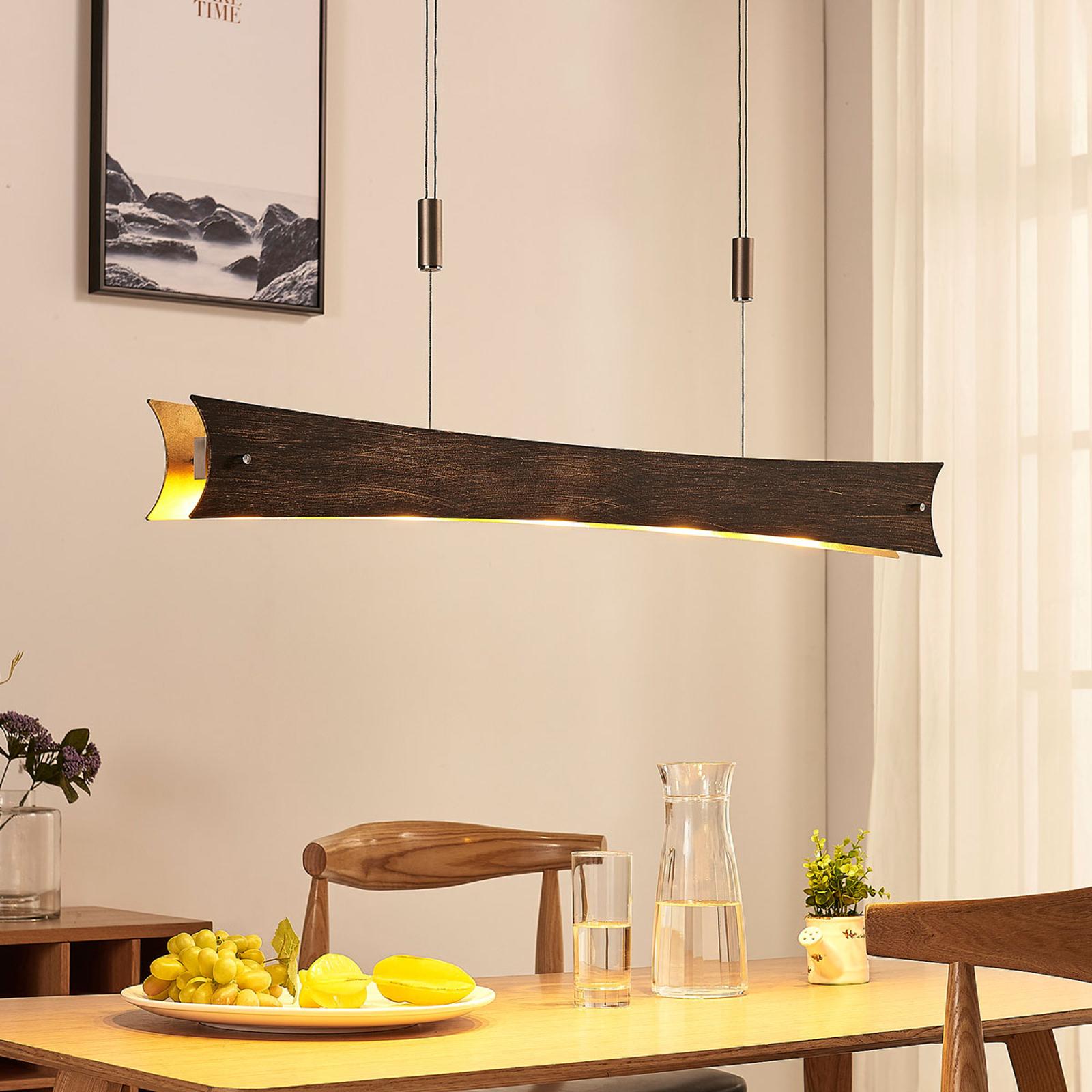 Lampada sospesa dimmerabile LED Ebba, nero-oro