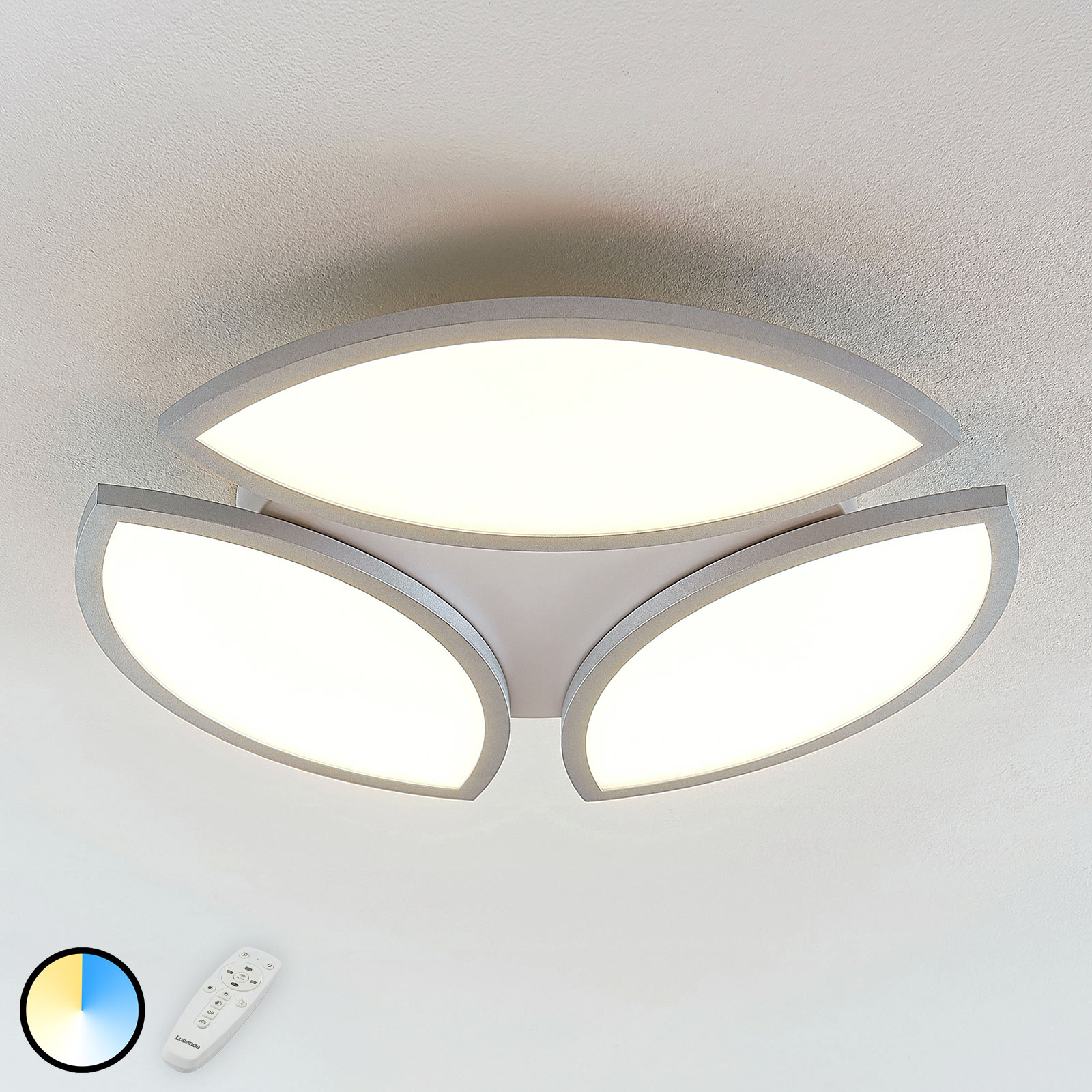 Plafonnier LED Malaika, dimmable, CCT, rond