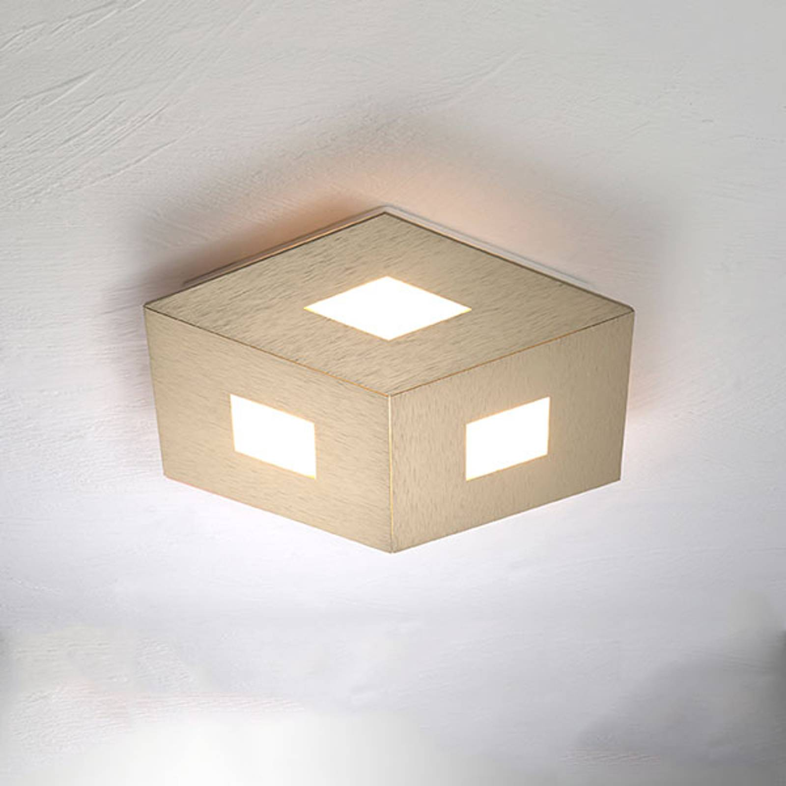 Bopp box Comfort LED plafondlamp goud 35cm