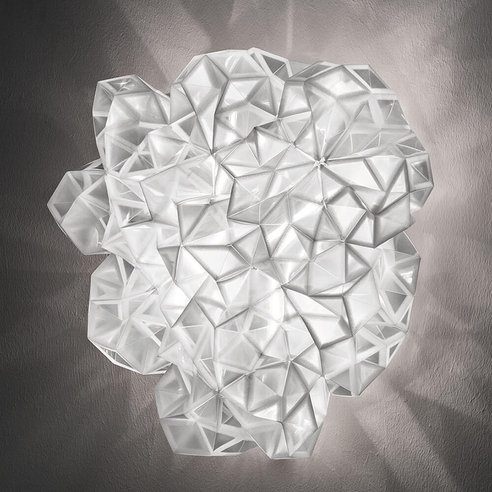 Slamp Drusa – designtaklampe, hvit