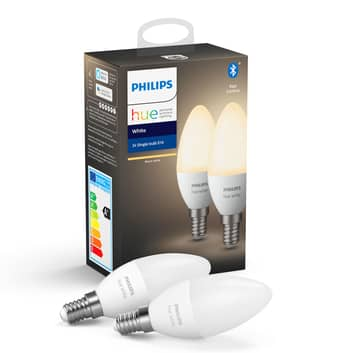 Philips Hue White 5,5W E14 LED-kaarslamp set van 2