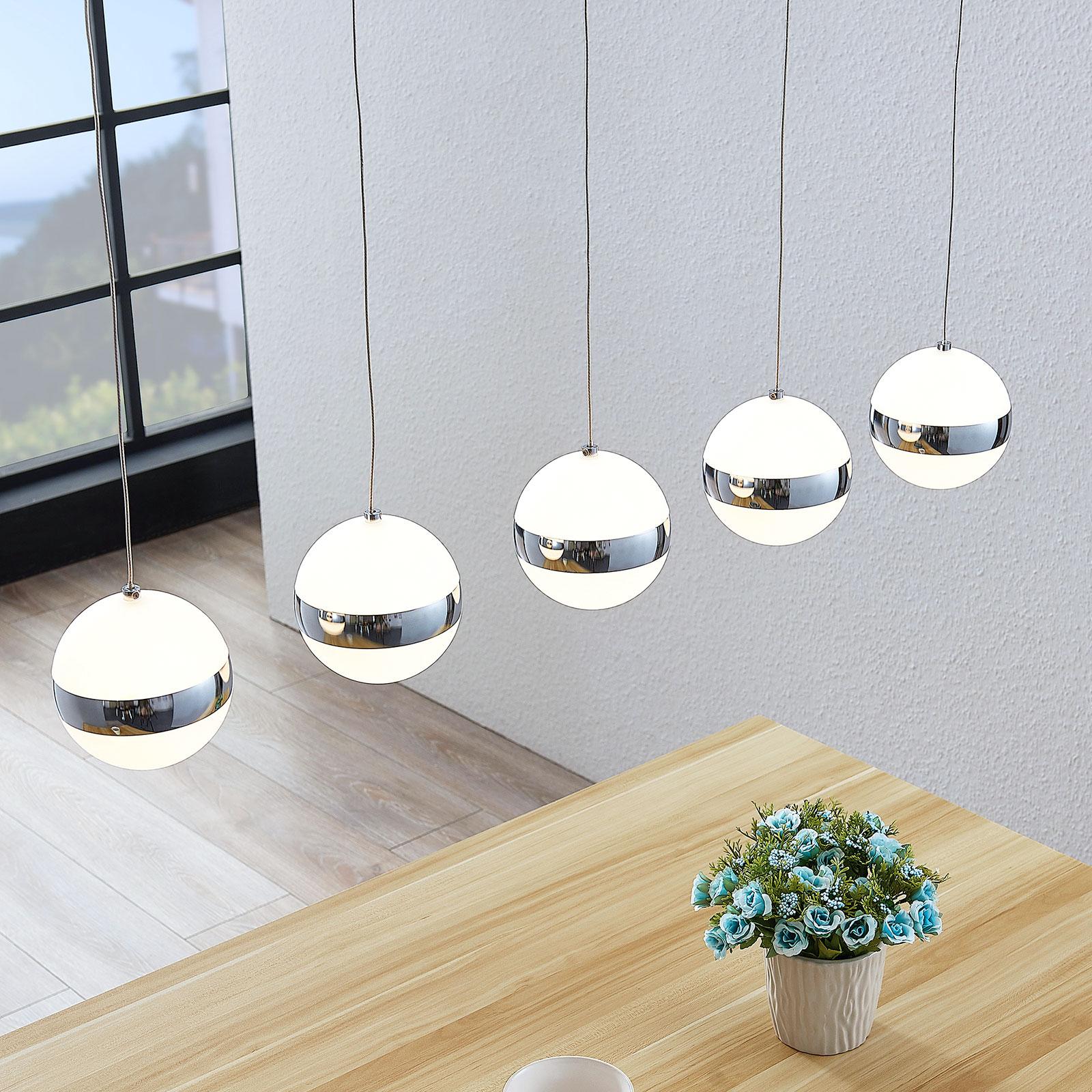 Lindby Maryte LED-Pendelleuchte, fünfflammig