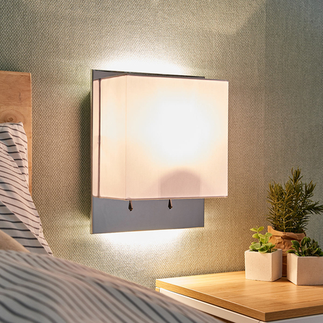Lámpara de pared Aureliano con pantalla de tela