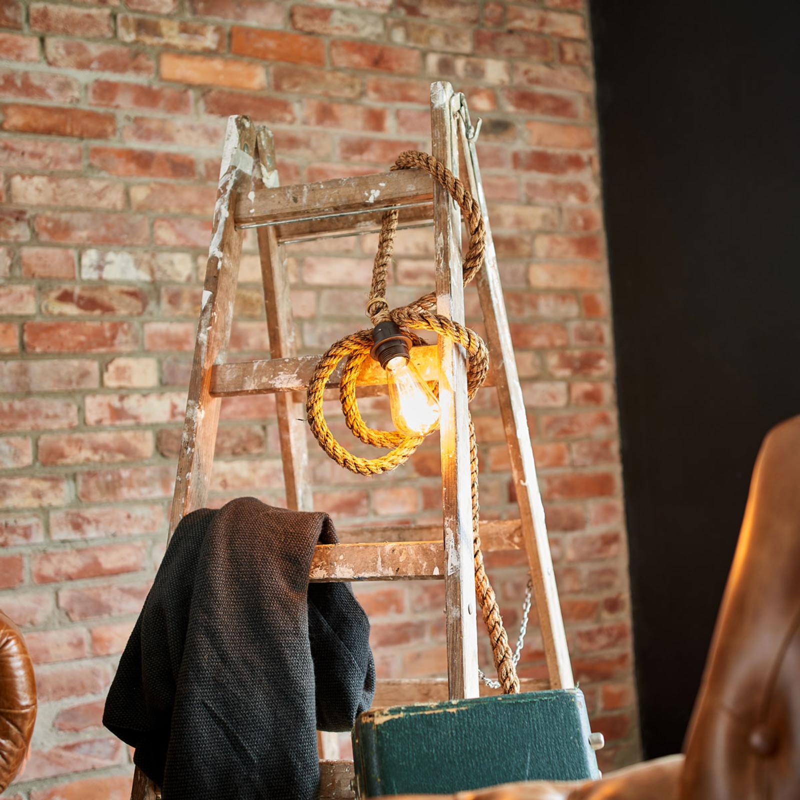 Lampa wisząca Mila z liny